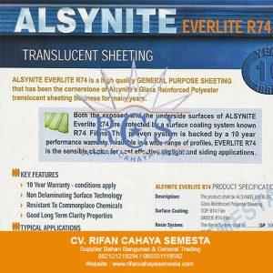 Transculent Alsynite Everlite R74 – 082121219294 / 085551119592